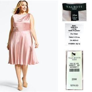 TALBOTS WOMAN Mauve Hammered Silk Cocktail Dress